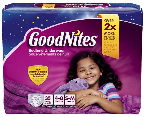 Goodnites Underwear - Girl - Small/Medium - 35 Ct