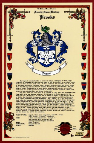 Brooks Coat Of Arms/Crest And Family Name History, Meaning & Origin Plus Genealogy/Family Tree Research Aid To Help Find Clues To Ancestry, Roots, Namesakes And Ancestors Plus Many Other Surnames At The Historical Research Center Store front-640156