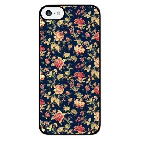 Vintage Floral Phone Case [Customizable by Buyers] [Create Your Own Phone Case] Slim Fitted Hard Protector Cover for iPhone 6