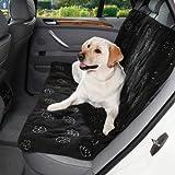 Cruising Companion Polyester Pawprint Car Seat Cover, Black