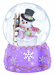 Precious Moments Annual Snowman with Winter Birds Waterball