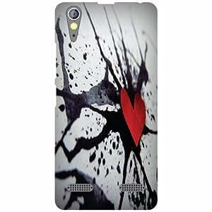 Lenovo A6000 Plus Back cover - Broken Heart Designer cases