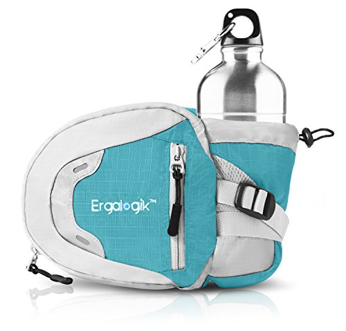 ErgaLogik-Day-Trekker-Hiking-Waist-Pack-with-Water-Bottle-Not-Included-Holder-Fanny-Pack-Dog-Walking-Running-Belt-Bag-Pouch-Fanny-Pack-for-Hiking-Running-Cycling-Camping-Travel