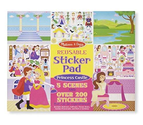 Melissa & Doug Reusable Sticker Pad: Princess Castle - 200+ Stickers and 5 Scenes (Sticker Pads compare prices)