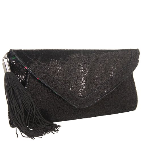 Betsey Johnson Envelope Clutch - Black