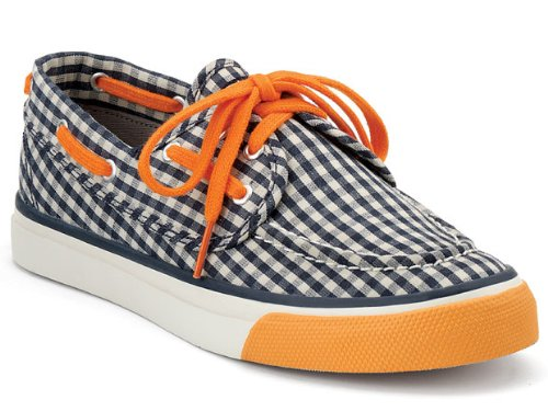 Sperry Seamate 2-Eye Navy/Orange 8 Womens Shoes