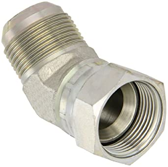 "Eaton Aeroquip 2070-16-16S 45 Degree Swivel Nut Elbow, JIC 37° End Types, Carbon Steel, 1-5/16 JIC(f) x 1-5/16 JIC(m) End Size, 1"" Tube OD"