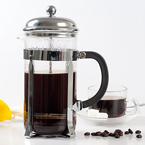 Find Bargain Secura 1 Liter Glass French Press Coffee Maker, 34-Ounce, BONUS Stainless Steel Screen
