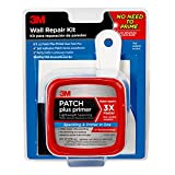 3M Patch Plus Primer Kit with 8-Fluid Ounce Self-Adhesive Patch, Putty Knife and Sanding Pad