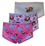 Disney Sofia The First 3 Pack Toddler Girls Brief Style Panties for girls