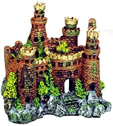 Exotic Environments Medieval Castle Aquarium Ornament, 7-1/2-Inch by 5-Inch by 7-Inch