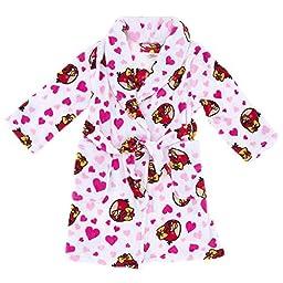 AME Sleepwear Little Girls\'  I Love Angry Birds Robe, Multi, 4