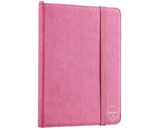 OZAKI スタイラスペン付属 iPad 2専用スタンドケース iCoat Versatile ピンクモデル IC890HPK