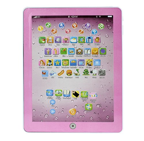SMTSMT Child Touch Type Computer Tablet English Learning Study Machine Toy-Pink (Tablet For A One Year Old compare prices)