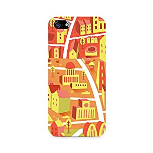 Ebby Yellow Town Premium Printed Case For Apple iPhone 4/4s