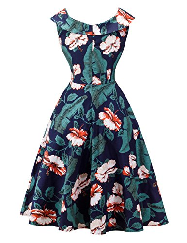 Angerella Vintage 50s Party Cocktail Dresses Sleeveless Retro Dress with Belt 1