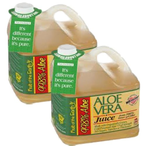 Fruit Of The Earth: Aloe Vera Juice: W/99.8% Aloe Juice, 2 Pack , 2 Gallons
