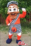 Human Mascot SpotSound US With A Red Beard And Scottish Clothes