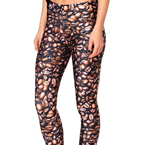New Fashion Coffee Bean 3D Printing Pants Leggings