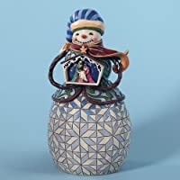 Jim Shore Nativity Snowman - Share The Story Of Christmas