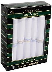 Chancellor Men's Handkerchief, Pack of 5 Pc (White)