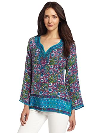 Tolani Women's Rita Top, Turquoise, Large