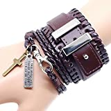 MU Cool Punk Style PU Leather Bracelet19.99