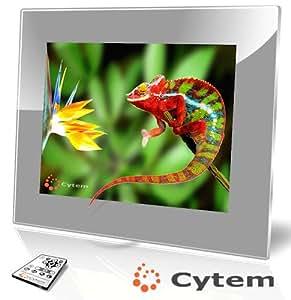 Cytem VX15-pro silber, Digitaler Bilderrahmen 38,1 cm (15 Zoll) (1024x768 / 4:3), Echte Zufallswiedergabe, Ordnerbasierte Diaschau, Diaschau Fortsetzen nach Standby / hochwertiger Acrylrahmen