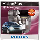 Philips 9006 VisionPlus Headlight Bulbs (Low-Beam), Pack of 2