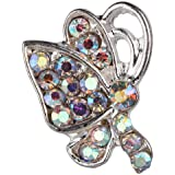 Beauty7 10 Pieces/pack 3D Colored Stone Single-side Butterfly Alloy AB Rhinestone Nail Art Glitter Decoration