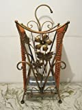 Square Metal Wrought Iron Umbrella Holder Stand