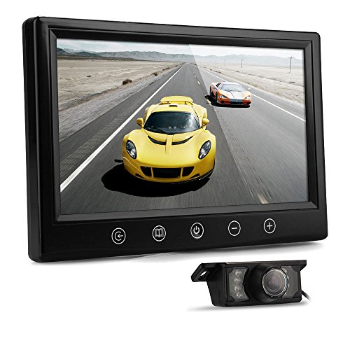 "9"" Tft Lcd Car Rear View Reverse Monitor+Wireless Transmitter+7 Led Camera"