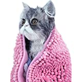 I'Pet® Ultra Soft And Absorbent Microfiber Chenille Towel With Hand Pockets Dog/Cat Bath Cloth & Bathing Absorbing...