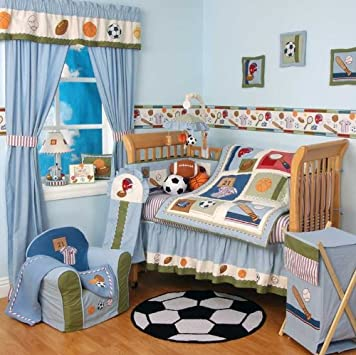 Popular Home Run Piece Baby Crib Bedding Set