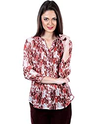 IRALZO Brown Printed Shirt