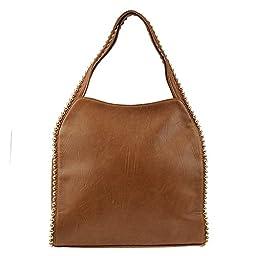 Big Buddha Grayson Handbag (Saddle)