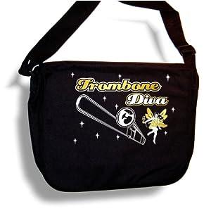 Trombone Diva Fairee - Sheet Music Document Bag Musik Notentasche MusicaliTee