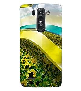 ColourCraft Lovely Flowers Design Back Case Cover for LG D722K