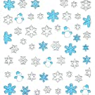 Change 2013 Merry Christmas Holiday Different Gifts Design Nail Art Stickers Snowflake (F)