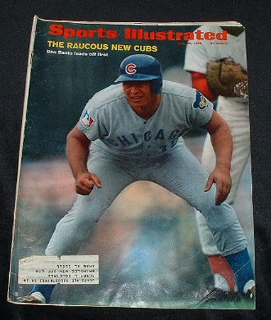 1969 Sports Illustrated June 30 Ron Santo Chicago Cubs Good to Very Good at Amazon.com