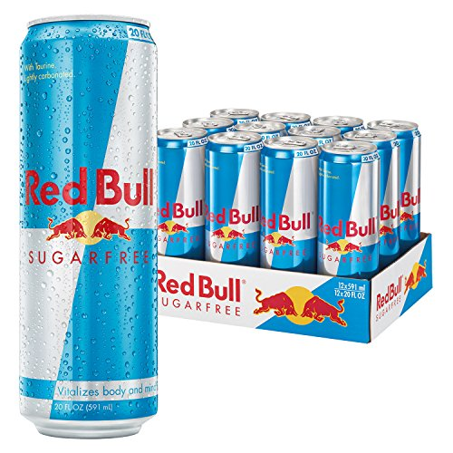 Red Bull Sugarfree, Energy Drink, 20 Fl Oz Cans, 12 Pack