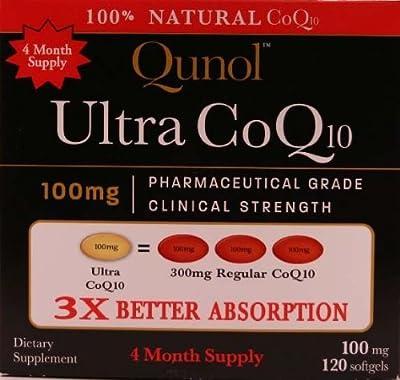 Qunol Ultra CoQ10 - 100% Soluble 100mg Softgels