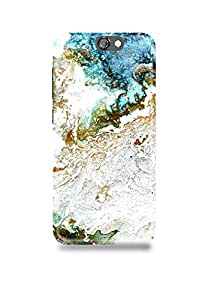 Blue & Gold Marble HTC A9 Case