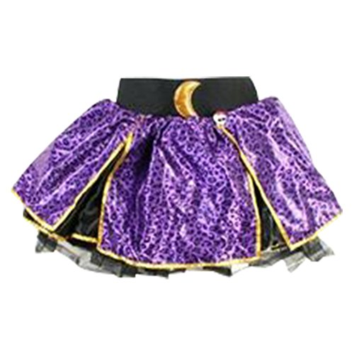 Monster High Girls Clawdeen Wolf Purple Leopard Skirt 4 - 6