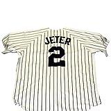 Derek Jeter New York Yankees Unsigned Majestic Baseball Jersey - Size L