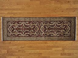 3\'x10\' Runner Red Tabriz Hand Knotted 300 kpsi Oriental Rug G20983