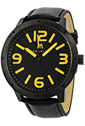 Brooklyn Watch Company De Kalb Black and Yellow Dial Mens Watch 1950BBY