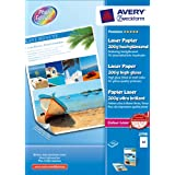 Avery -100 Feuilles Papier Photo Laser brillant PREMIUM, recto/verso 200g/m�par Avery