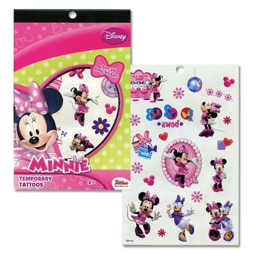 Minnie Mouse Temporary Tattoo Book Party Accessory