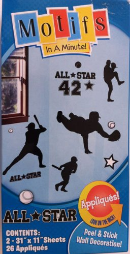 Motifs in a Minute All Star 42 Peel & Stick Wall Decoration - 1